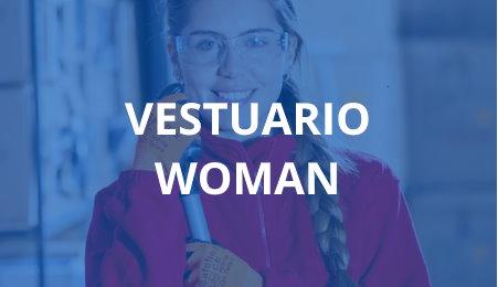 Mujer con guantes, gafas y traje de protección laboral industrial