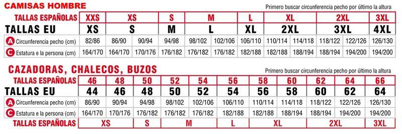 cfb9a34730 información sobre tallas y colores